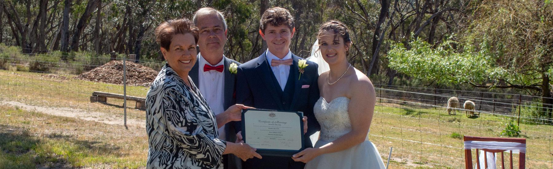 wedding celebrant blue mountains